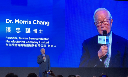 TSMC Founder and former Chairman and CEO Morris Chang speaks at the Semicon Taiwan event last week. Source: SEMI