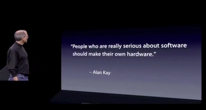 Steve Jobs quotes Alan Kay at iPhone 7 launch.