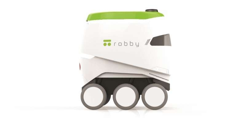 Robots produced by startup Robby Technologies are already in field tests, making home deliveries in the San Francisco area. (Image: Robby Technologies)