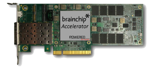 The PCIe acellerator consumes 15 W at 600 frames/s. (Image: BrainChip)