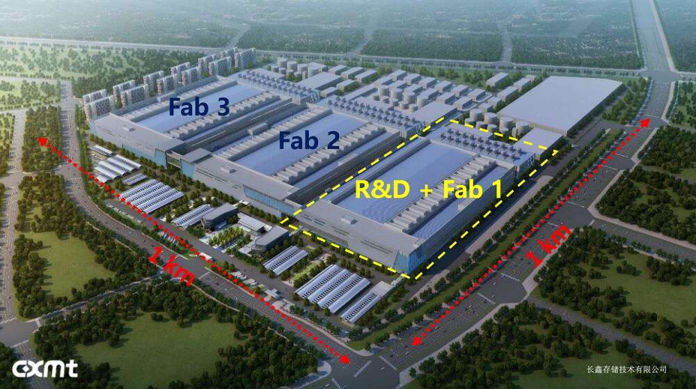 ChangXin Memory thusfar completed the R&D and Fab 1. (Source: ChangXin Memory)