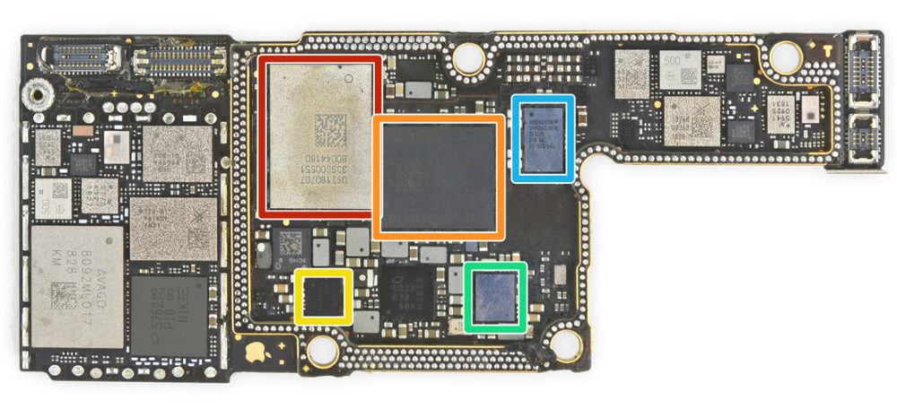 iPhone XS Max RF board front