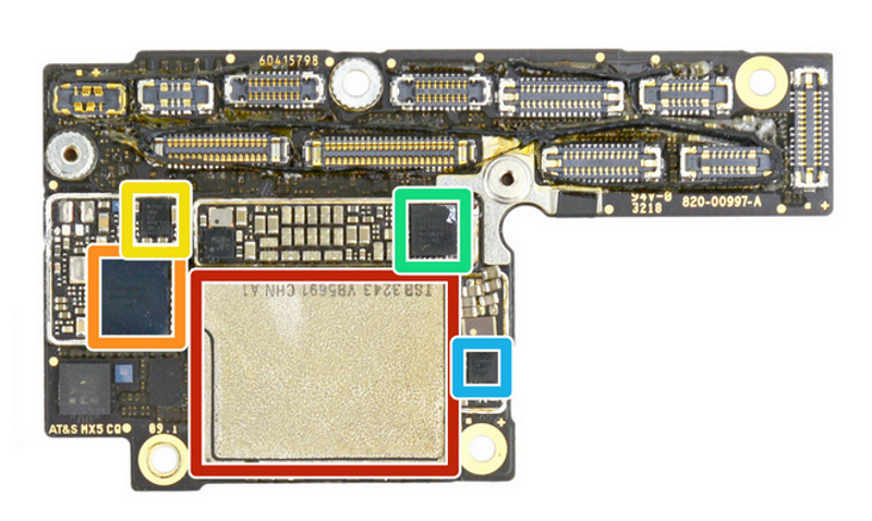 iPhone XS RF board