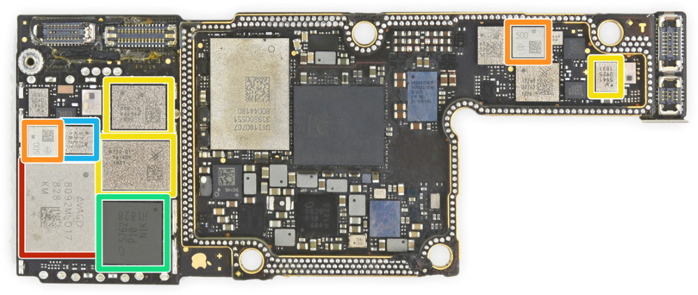 iPhone XS Max RF board back