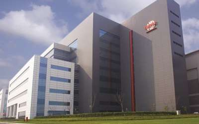 TSMC's Fab 14 300-mm gigafab in Taiwan's Tainan Science Park.