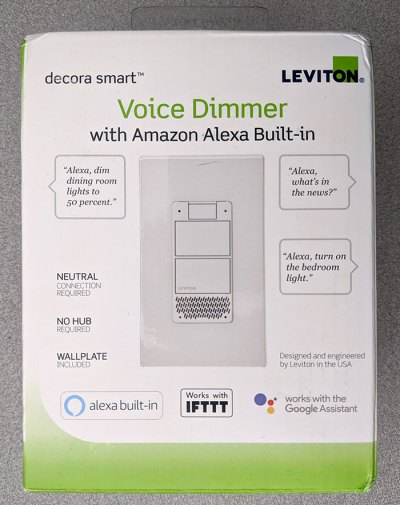 Leviton Smart Voice Dimmer box front