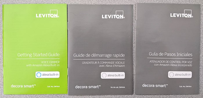 Leviton Smart Voice Dimmer documentation