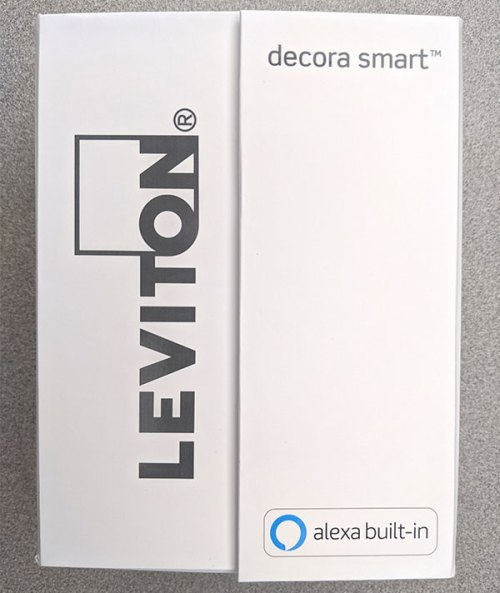 Leviton Smart Voice Dimmer inner box