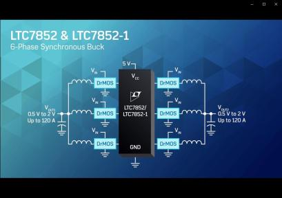 Dual Output, 6-Phase, Current Mode Synchronous Controller for DrMOS