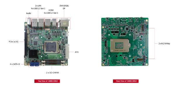 Litemax has expanded its family of Mini-ITX form factor embedded boards with the release of the AMIX-CML0.