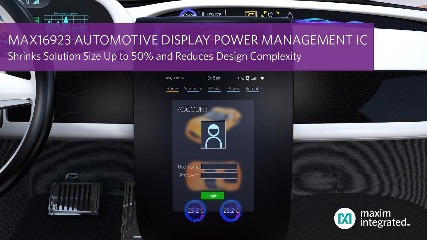 Maxim Release New Automotive Display Ic Ee Times Asia